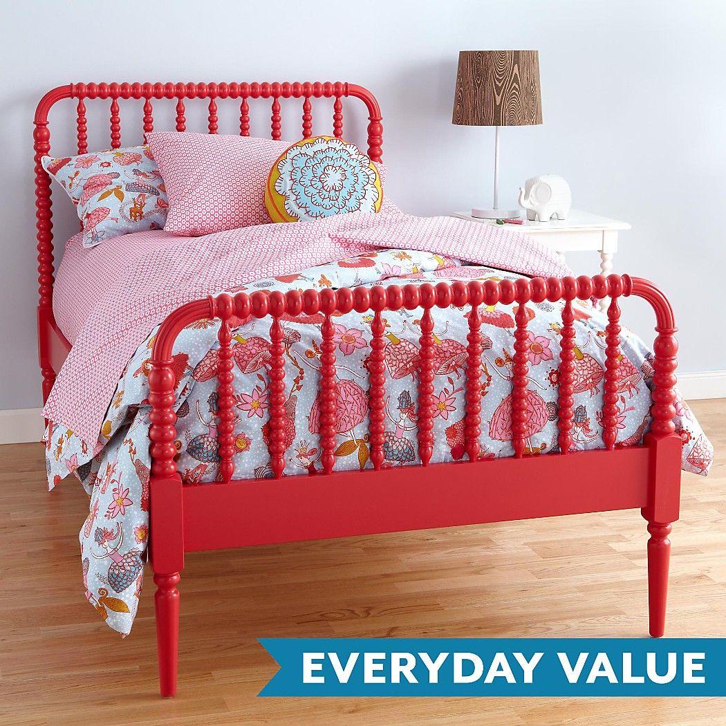 Jenny Lind Kids Bed (Raspberry) | The Land of Nod | Kiddos | Pinterest