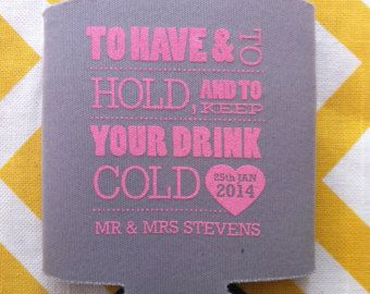 This listing is for 300 made to order wedding can coolers. Give your wedding guests a favor they can actually use after the big day! These fun