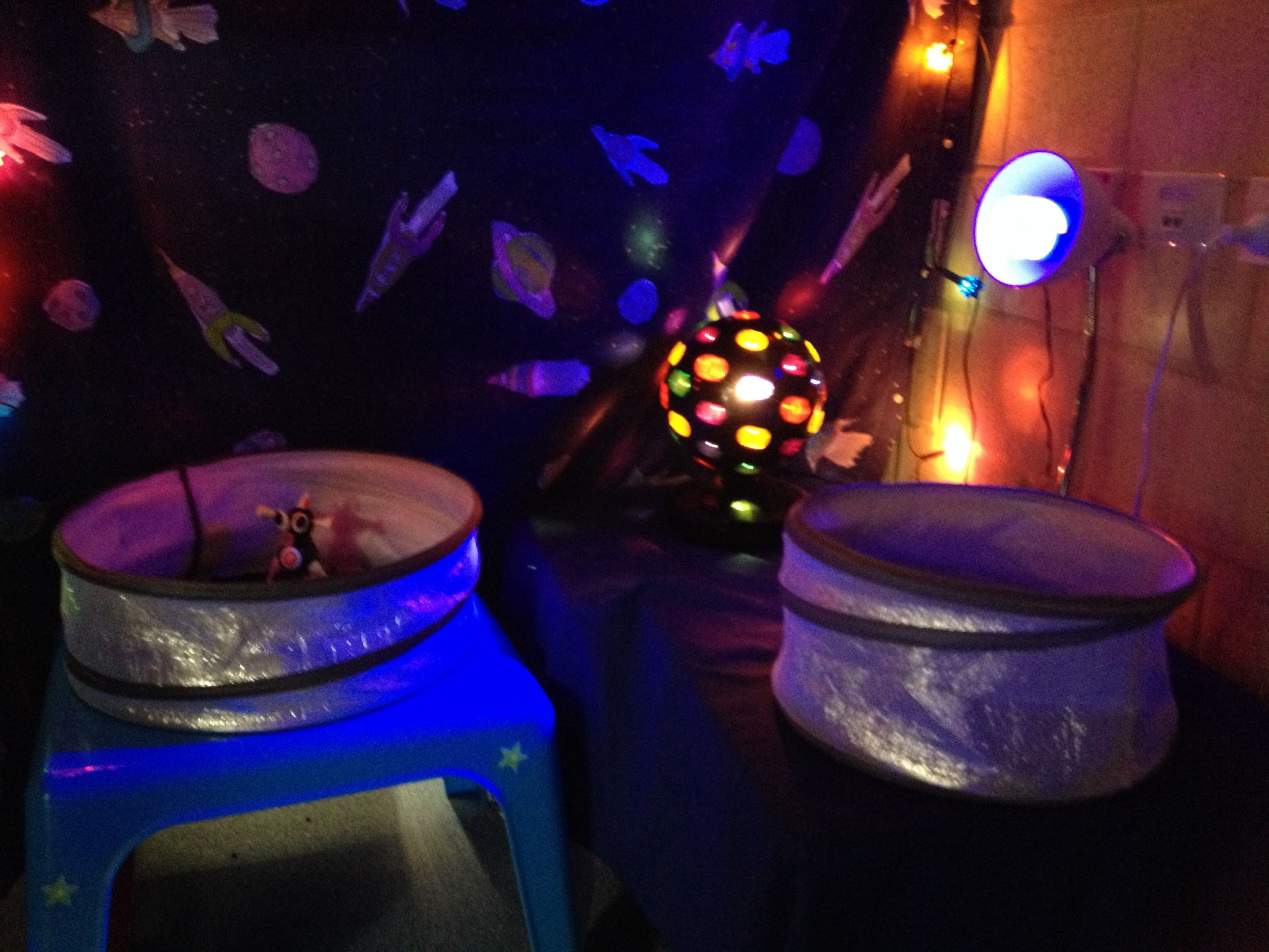 Fairy Lights Kids Room Space Theme Home Corner Dark Room With Glow In The Dark