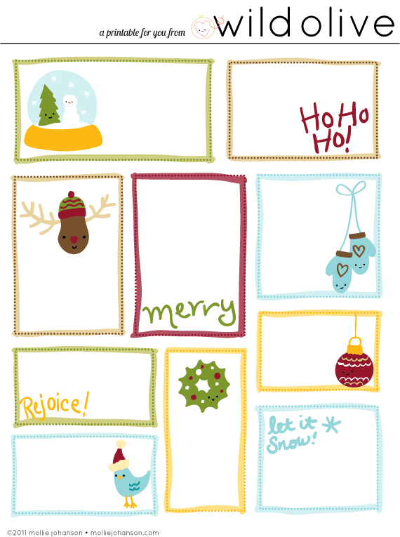 Sets Of Free Printable Christmas Gift Tags  Free Printable