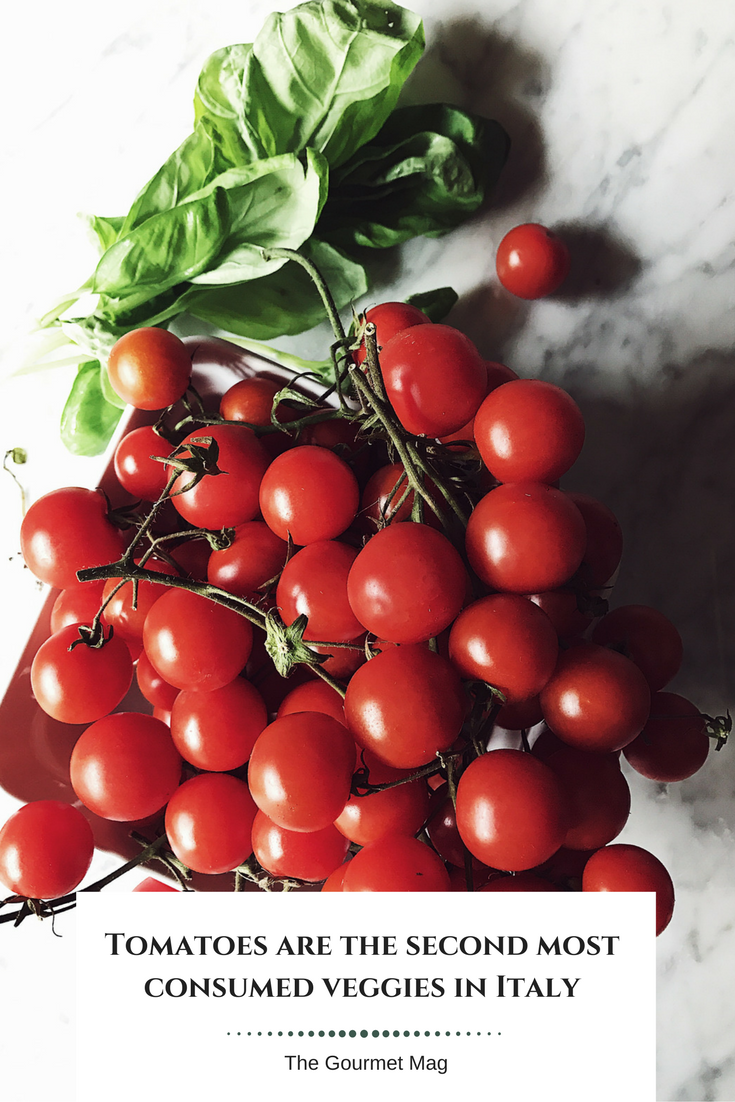 Italian food culture: tomatoes from the Tomato Red Issue.