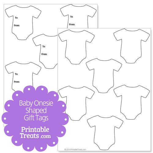 Baby Onesie Shaped Gift Tags From Printabletreats Com Baby Shower