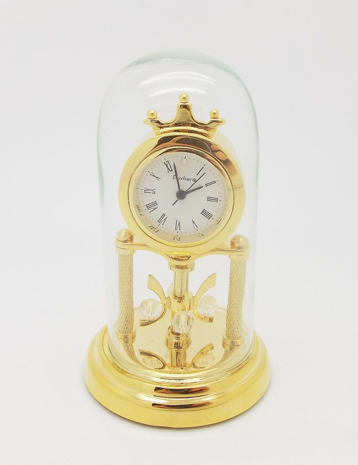 ddcc39f877d Excelsior The Diamond Collection Of Gold   Silver Miniature Anniversary  Clock