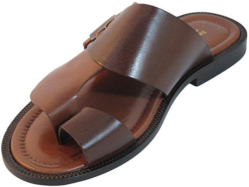 32b9f0752 Men s Davinci Italian Leather Push Toe Sandals 1099 (40 EU 7 US ...
