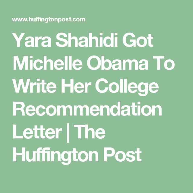 Yara Shahidi Got Michelle Obama To Write Her College
