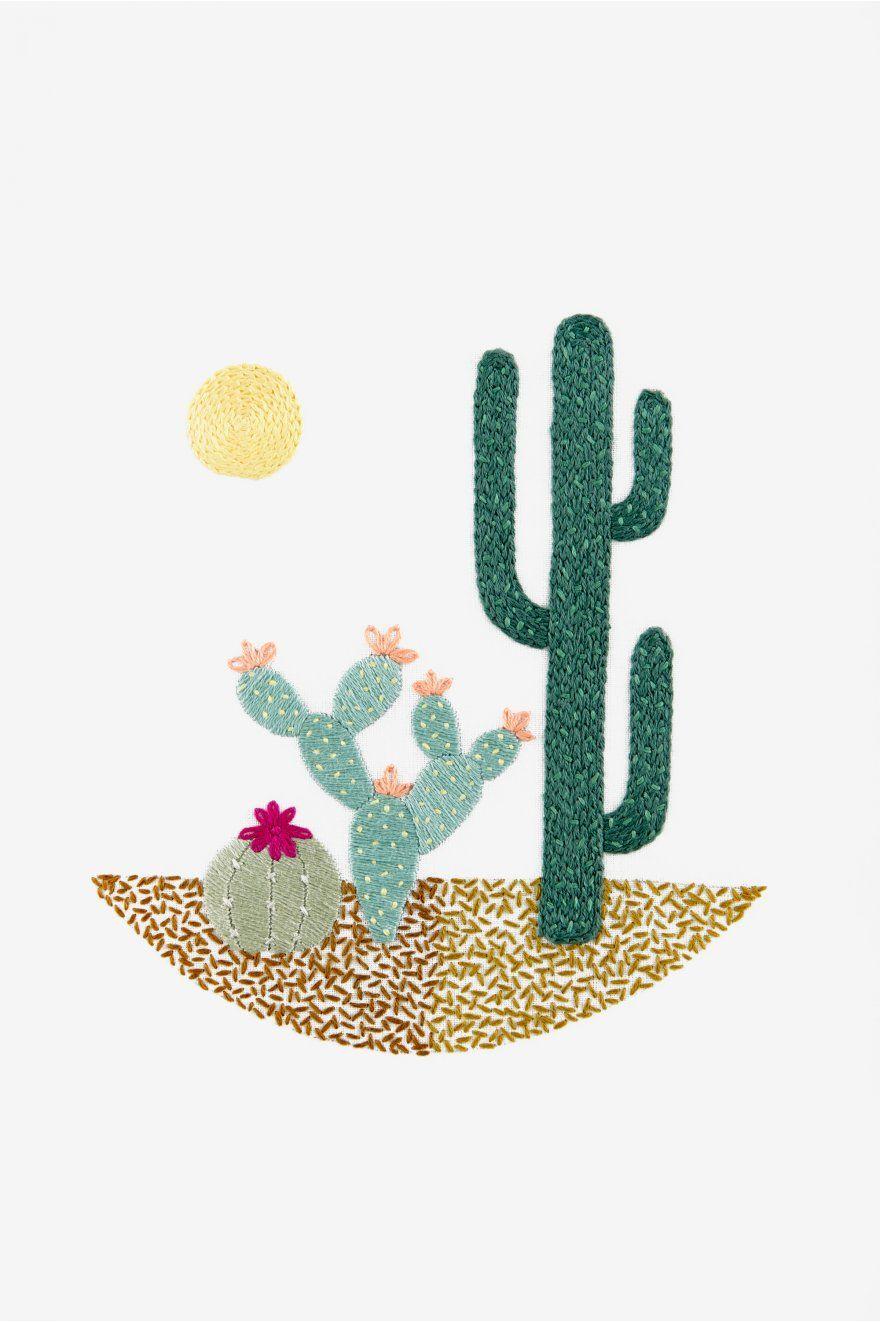 Desert Landscape Pattern Embroidery Patterns Free