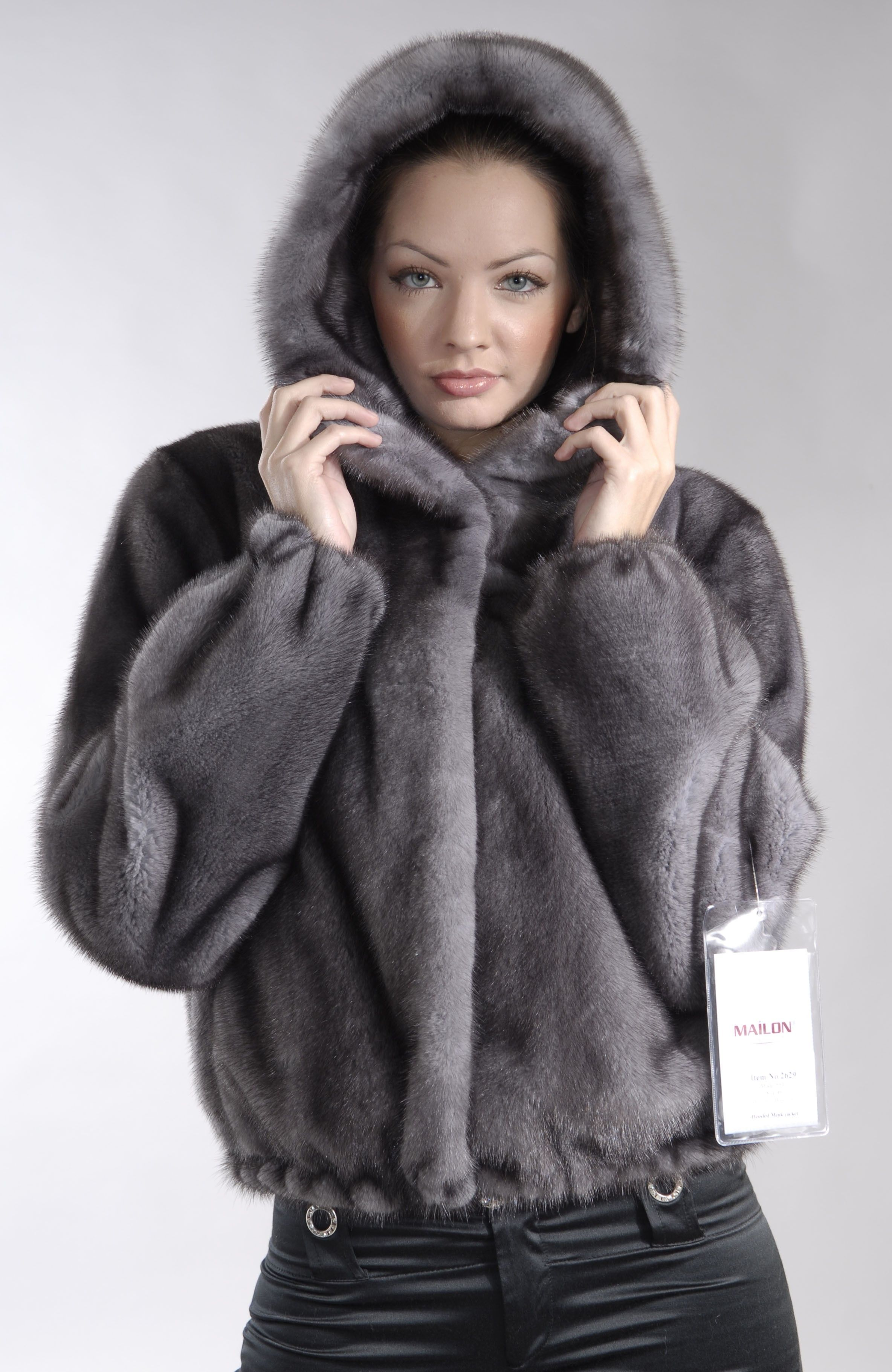 Hooded Blue Iris mink fur jacket | furs | Pinterest | Mink fur ...