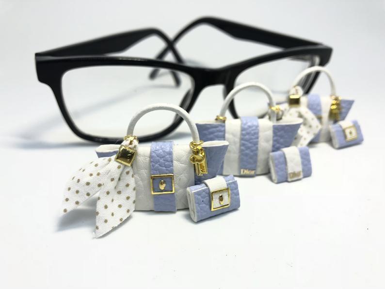 1:12 Scale Vintage Doll Miniature Glasses Dollhouse Decor AccessoODUS