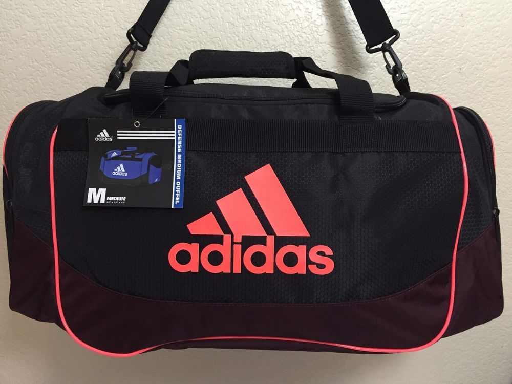 9b13cfd67 ADIDAS Defense Medium Duffel Unisex Gym bag luggage Black Dark Red Solar Red.   Adidas
