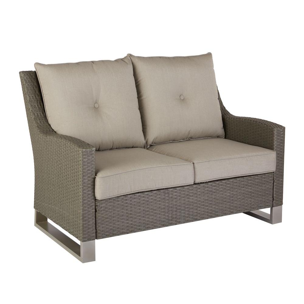 Home Decorators Collection Broadview Patio Loveseat With Sunbrella Spectrum Dove Cushions Frs60490l The Home Depot Patio Couch Cushions Patio Loveseat Love Seat