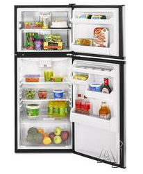 Use a smaller fridge, and spend less on electricity. The Whirlpool ET0MSRXT  9.7 cu. ft. Top-Freezer Refrigerator with 2 Glass Shelves, Clear Humidity-Controlled Crisper and Reversible Door Swing. This refrigerator uses 386 kWh/yr and has an estimated yearly operating cost of $42.81. Cost new is $459.