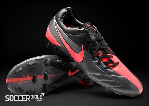 Nike Total 90 Laser IV Football Boots - Grey/Red/Black - http: