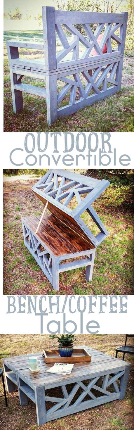 Tremendous Outdoor Convertible Coffee Table And Bench Diys Ideas Evergreenethics Interior Chair Design Evergreenethicsorg