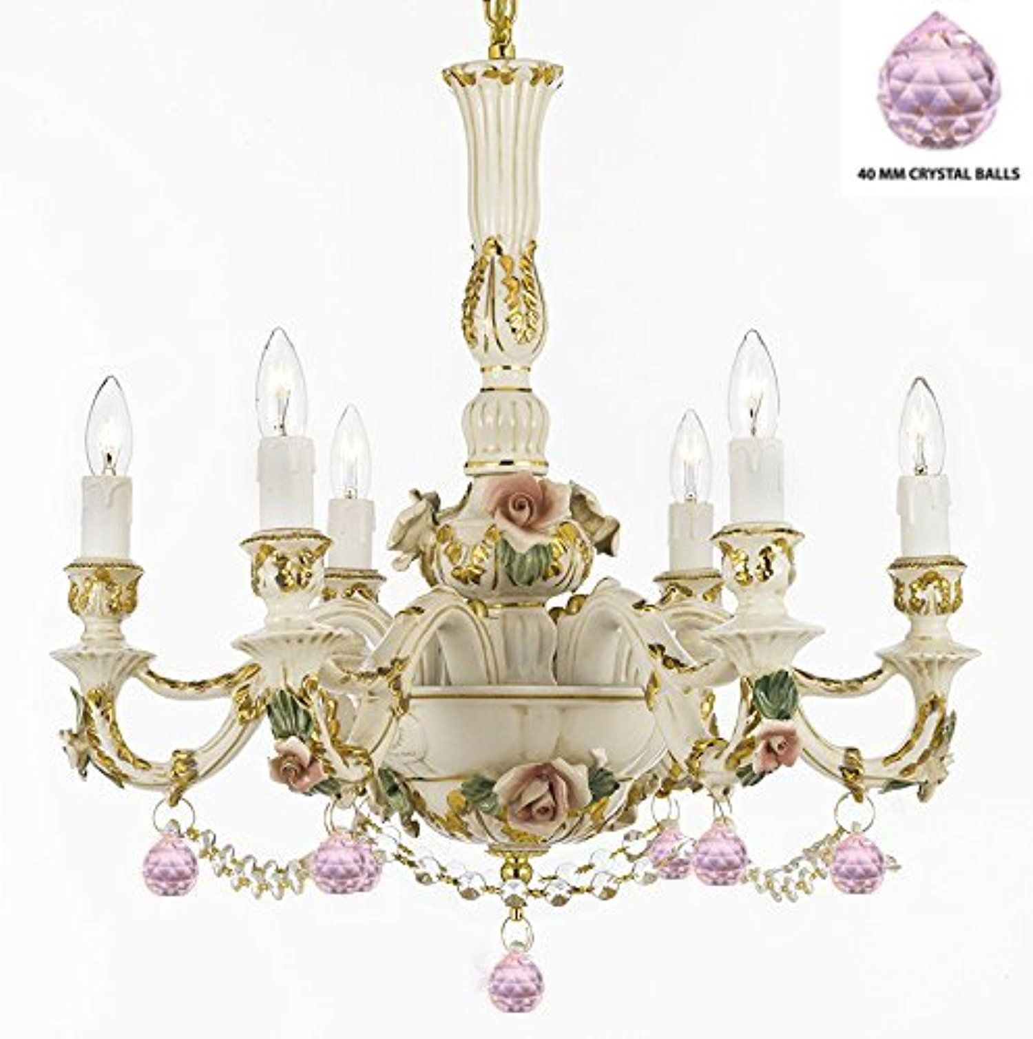 Authentic Capodimonte Porcelain Chandelier Lighting Chandeliers