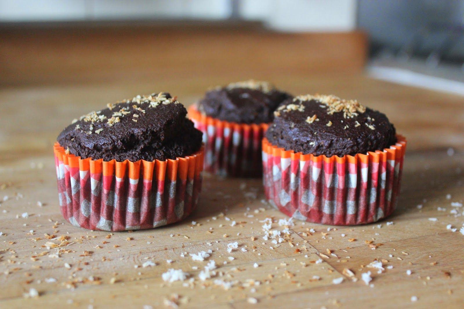 Muffins chocolat parfum coco (farine de coco inside) - vegan