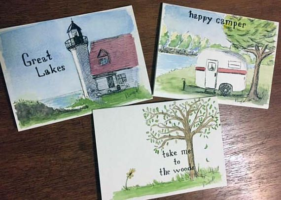 Michigan greeting cards hand painted and lettered 5x7 inches blank michigan greeting cards hand painted and lettered 5x7 inches m4hsunfo