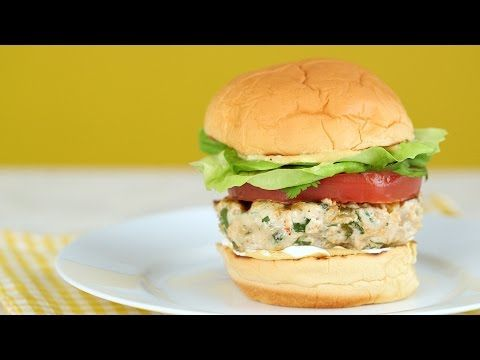 Chicken and Green Chile Burgers - Everyday Food with Sarah Carey - YouTube