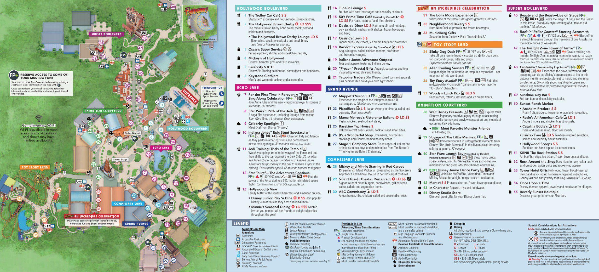 Map Of Hollywood Studios Florida Disney Hollywood Studios Map Upd. 1/19   Disney world map