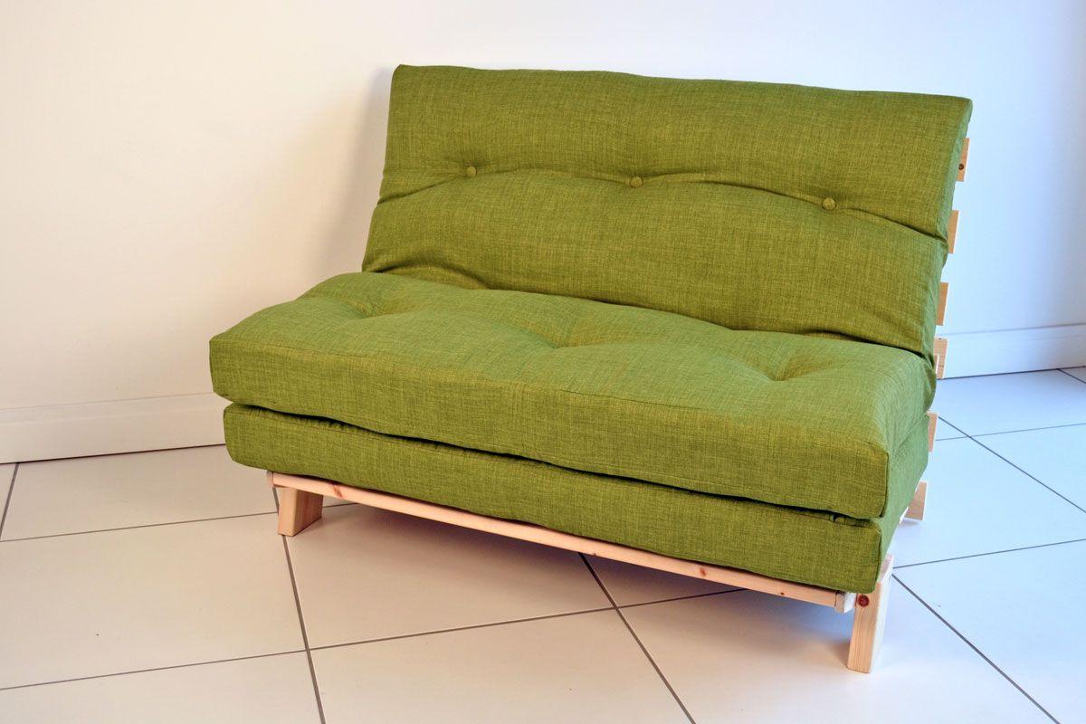 Modern Futon Sofa Bed Green Color