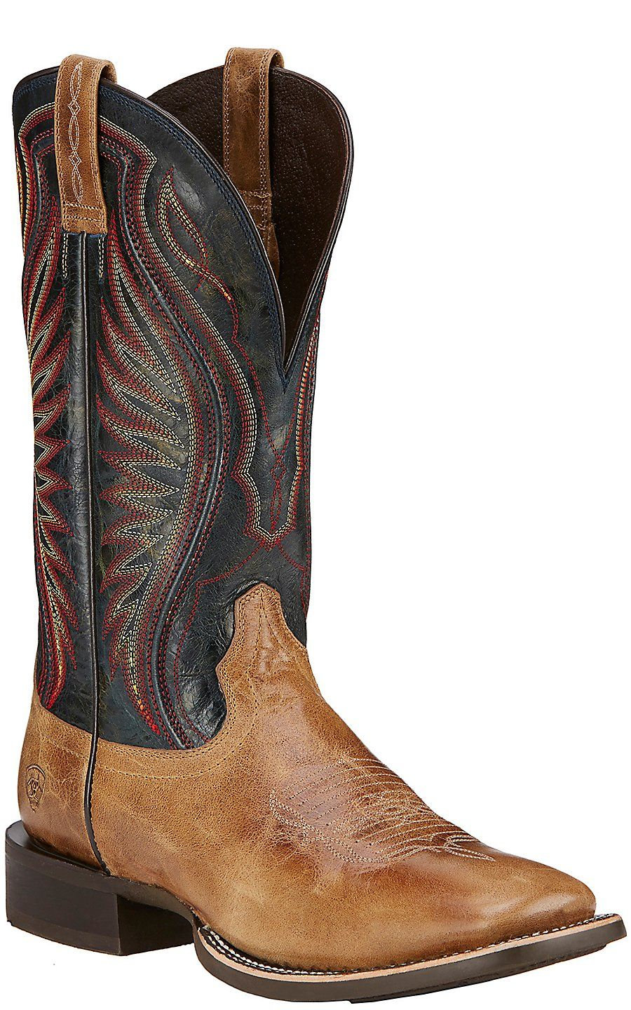 Ariat Rodeo Warrior Men's Shadow Brown Double Welt Square Toe ...