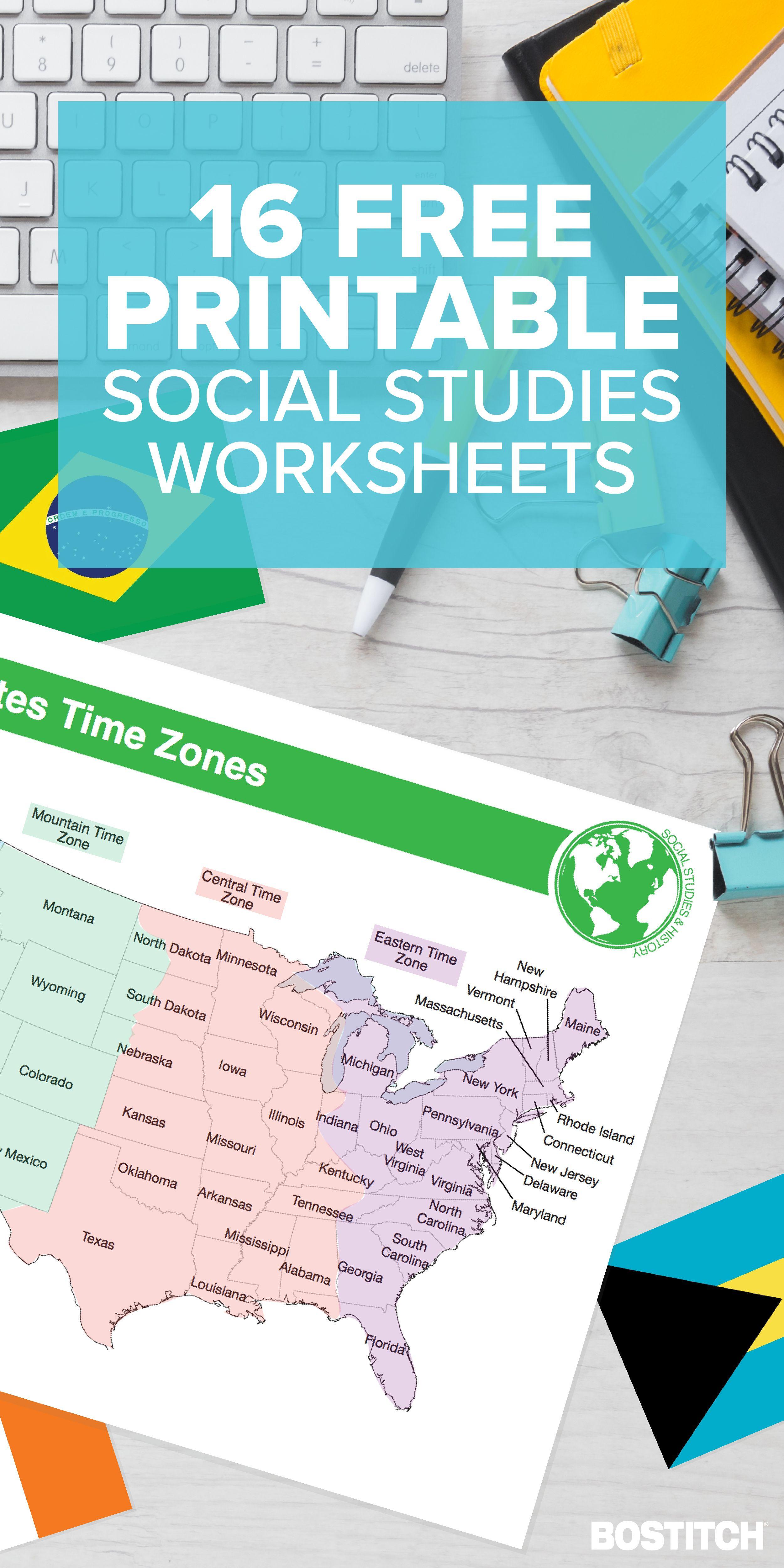 16 Free Printable Social Stu S Worksheets In