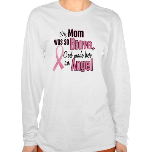 My Mom Is An Angel Breast Cancer Tshirts T-Shirt, Hoodie