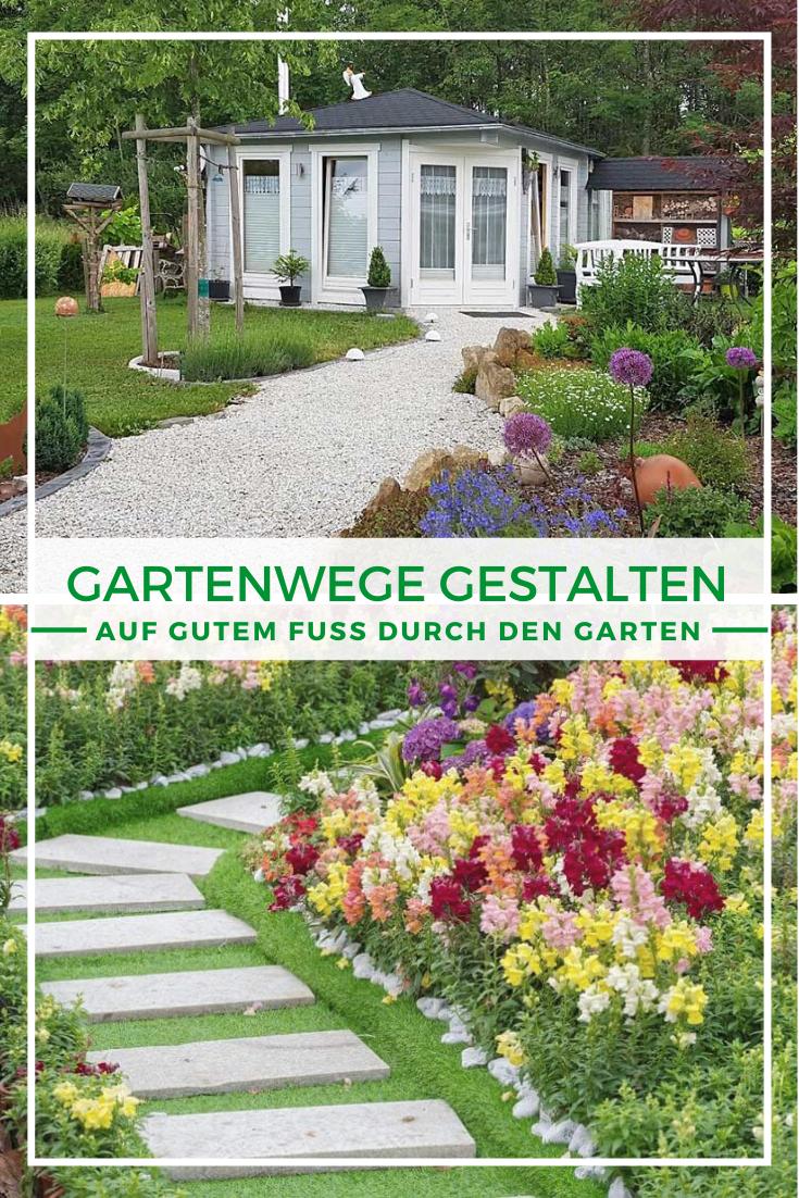 Gartenwege Gestalten Auf Gutem Fusse Zum Gartenhaus Gartenweg Gestalten Garten Gartengestaltung