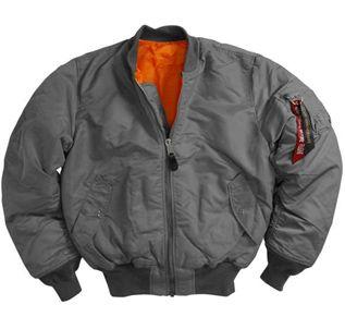 f168ae73a Alpha MA1 Gun Metal Flight Jacket - Wholesale | Alpha Industries ...