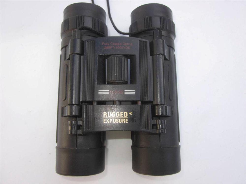 Rugged Exposure Binoculars 10 X 25 ~ `28 U0027 @ 1000 YARDS~FULLY COATED
