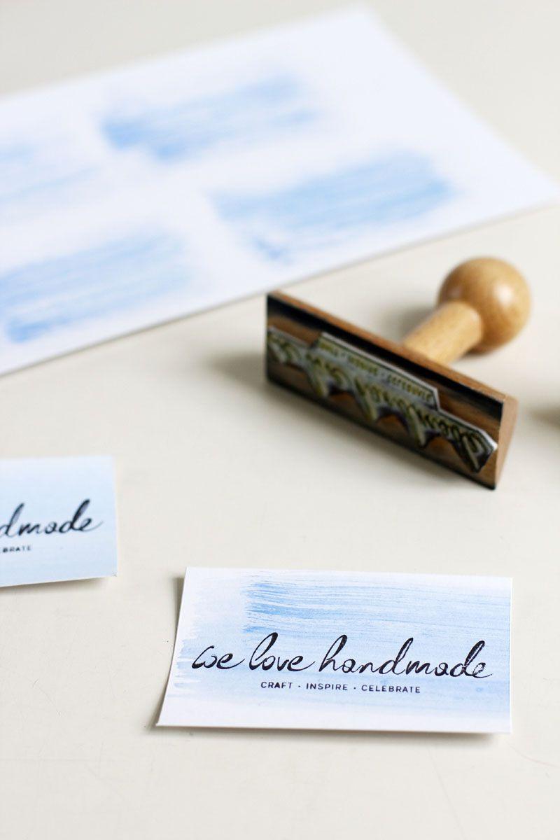 Diy Schnelle Visitenkarten Conserves Board