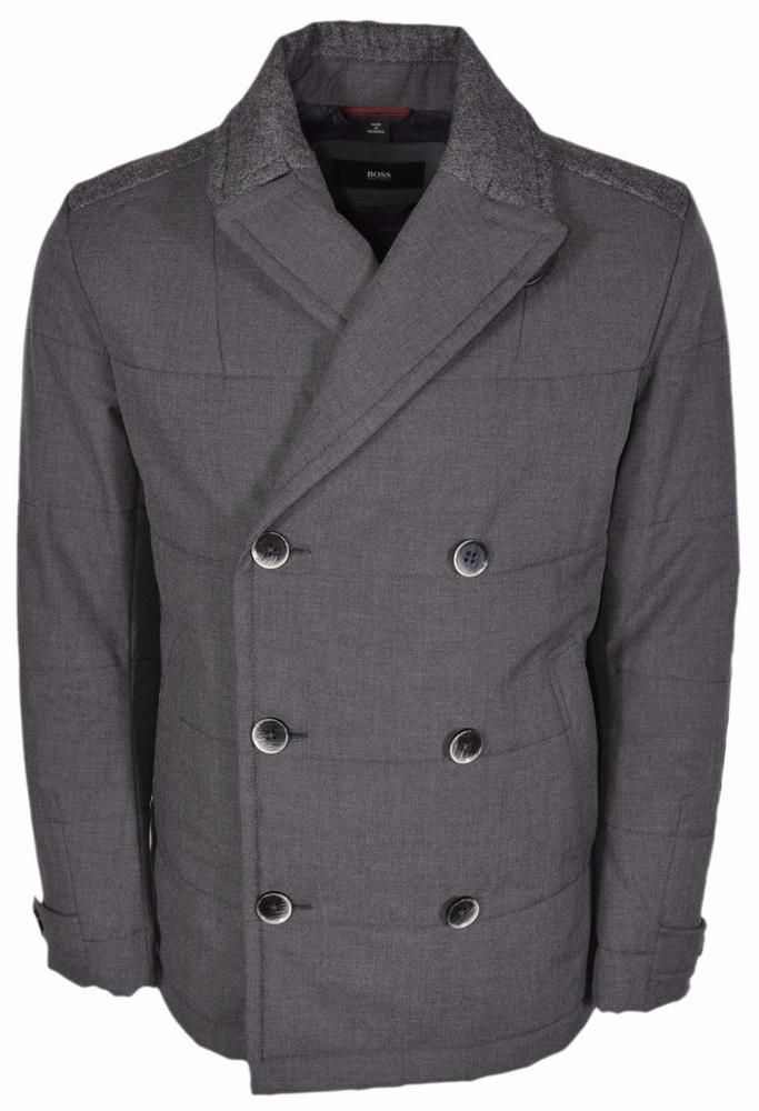 9c7cb0c1a079c NEW BOSS Hugo Boss Black Line Camius  645 Double Breasted Pea Coat 40 R   HUGOBOSS  Peacoat