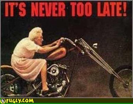 Fun biker grandma dating