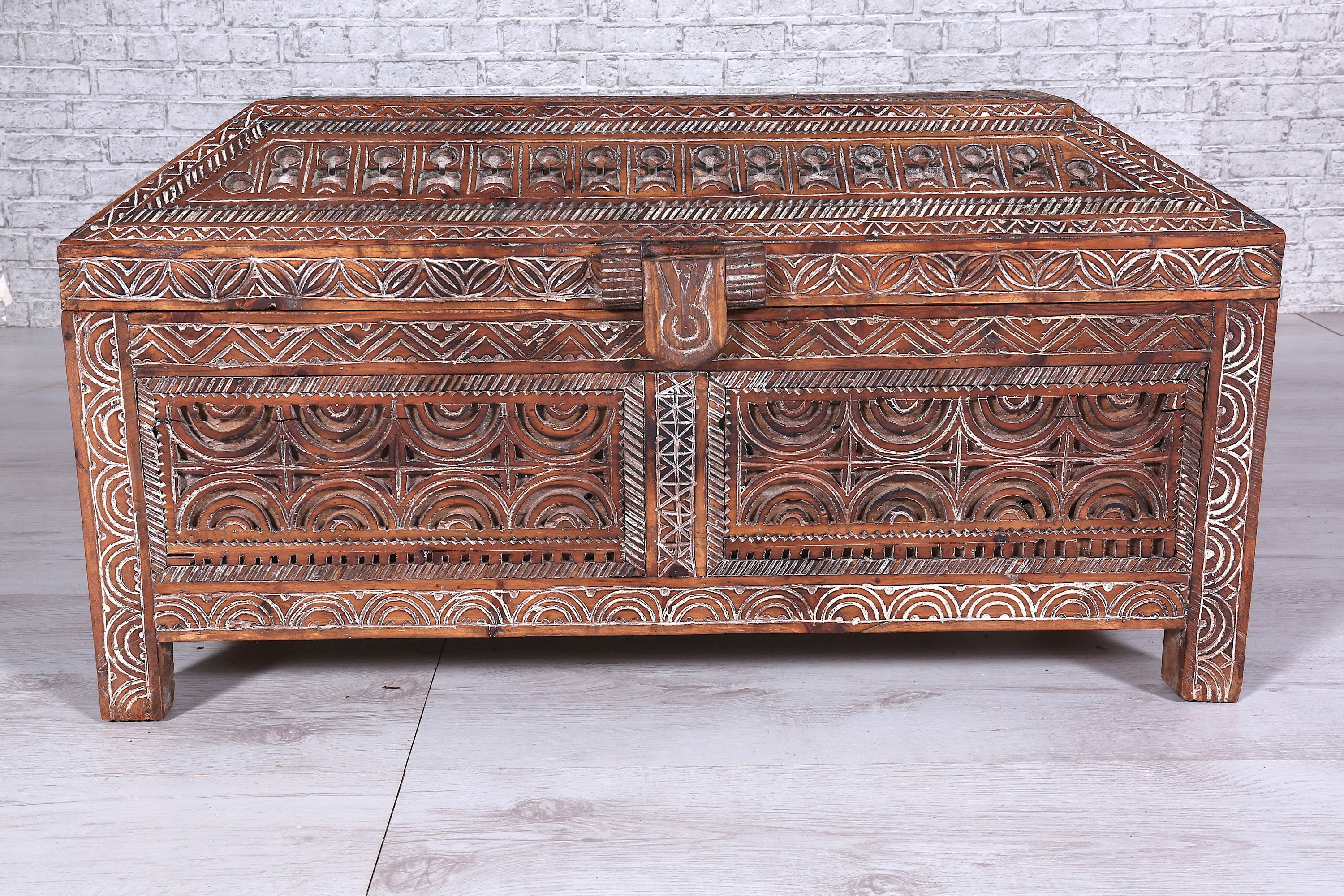 Painted Cedar Wood Nomad Chest