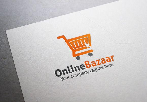 Online Bazaar Logo Menu Template Word Logo Templates Logos