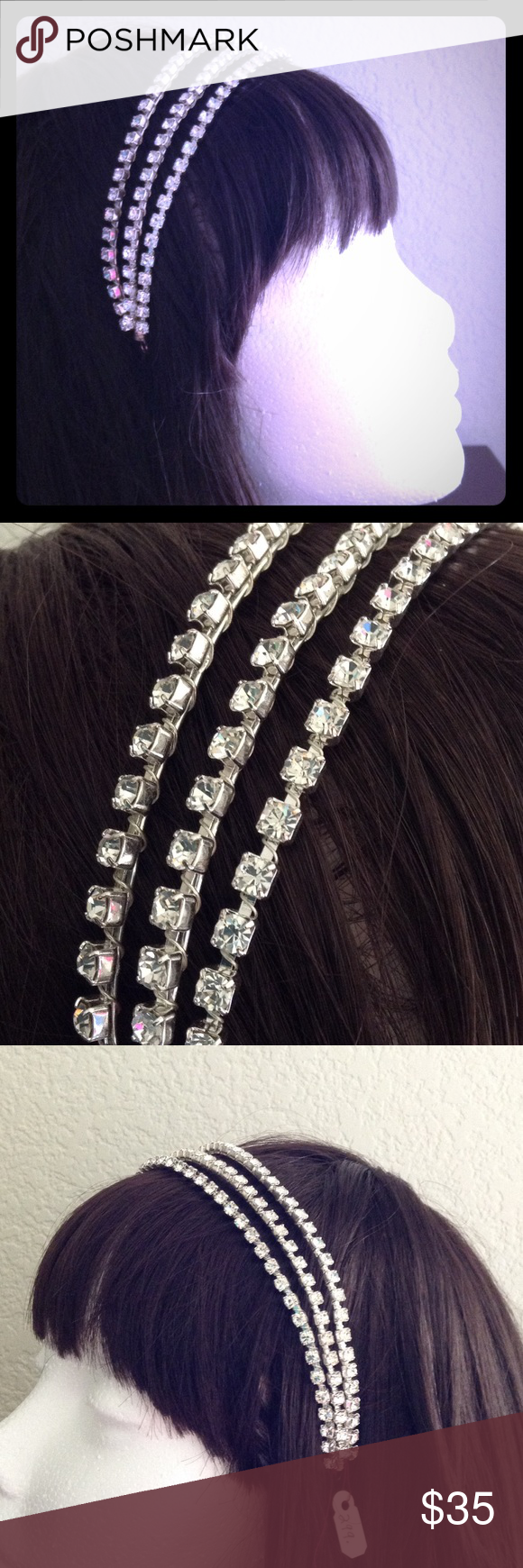 Nwt rhinestone tiara hair accessories formal and bling