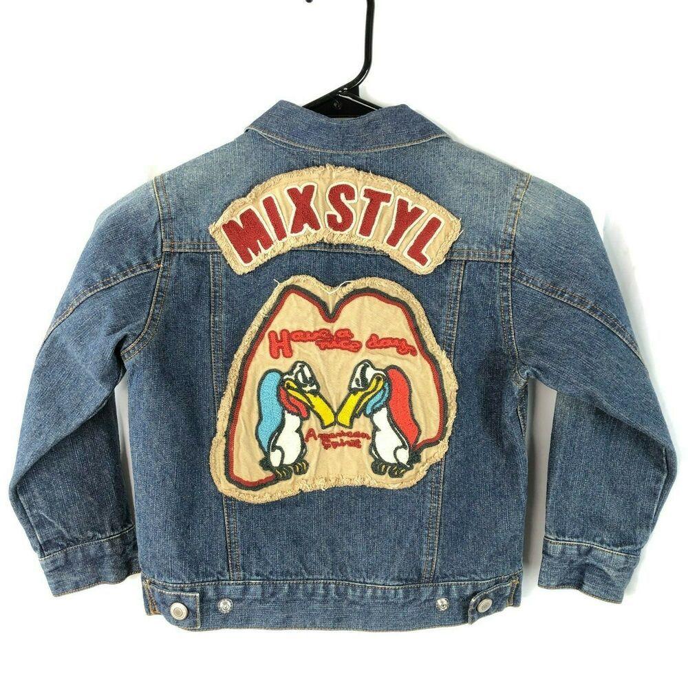 Mixstyl Kids Denim Jean Jacket Euro Size 110 5 Buzzard American Spirit Nice Day Mixstyl Jeanjacket Everyday Kids Denim Jeans Kids Denim Denim Jean Jacket [ 1000 x 1000 Pixel ]
