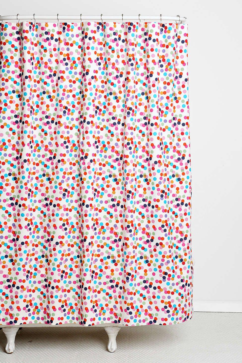 Plum Bow Confetti Shower Curtain