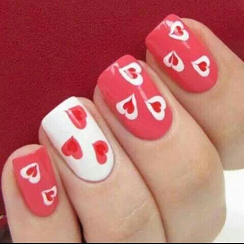 love heart  heart nail designs