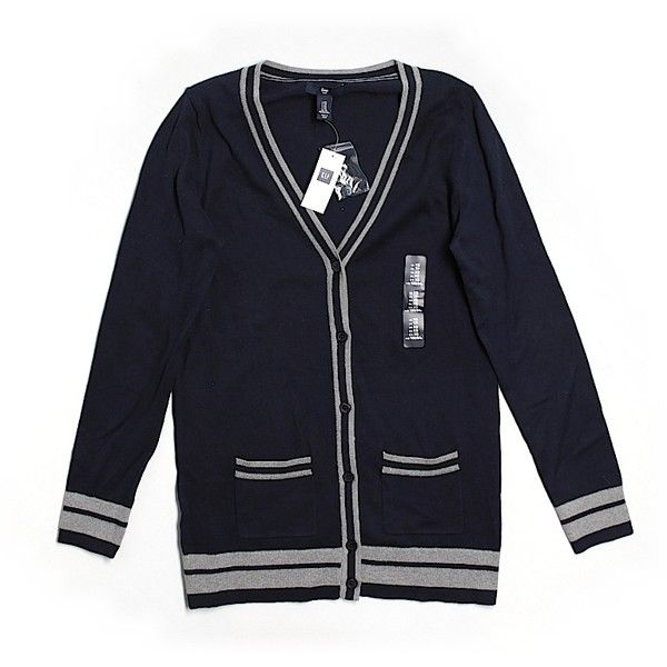 Pre-owned Gap Outlet Cardigan ($18) ❤ liked on Polyvore featuring tops, cardigans, black, gap cardigan, black top, gap tops, black cardigan and cardigan top