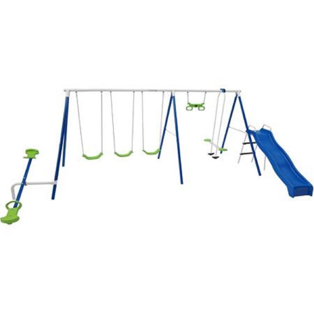 With the Flexible Flyer Metal Swing Set you can bring right home ...
