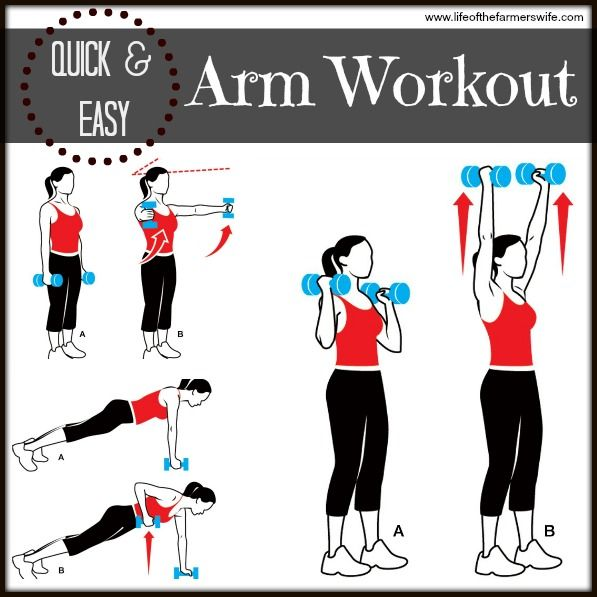 Quick + Easy Arm Workout to tone your arms! {www.lifeofthefarmerswife.com}