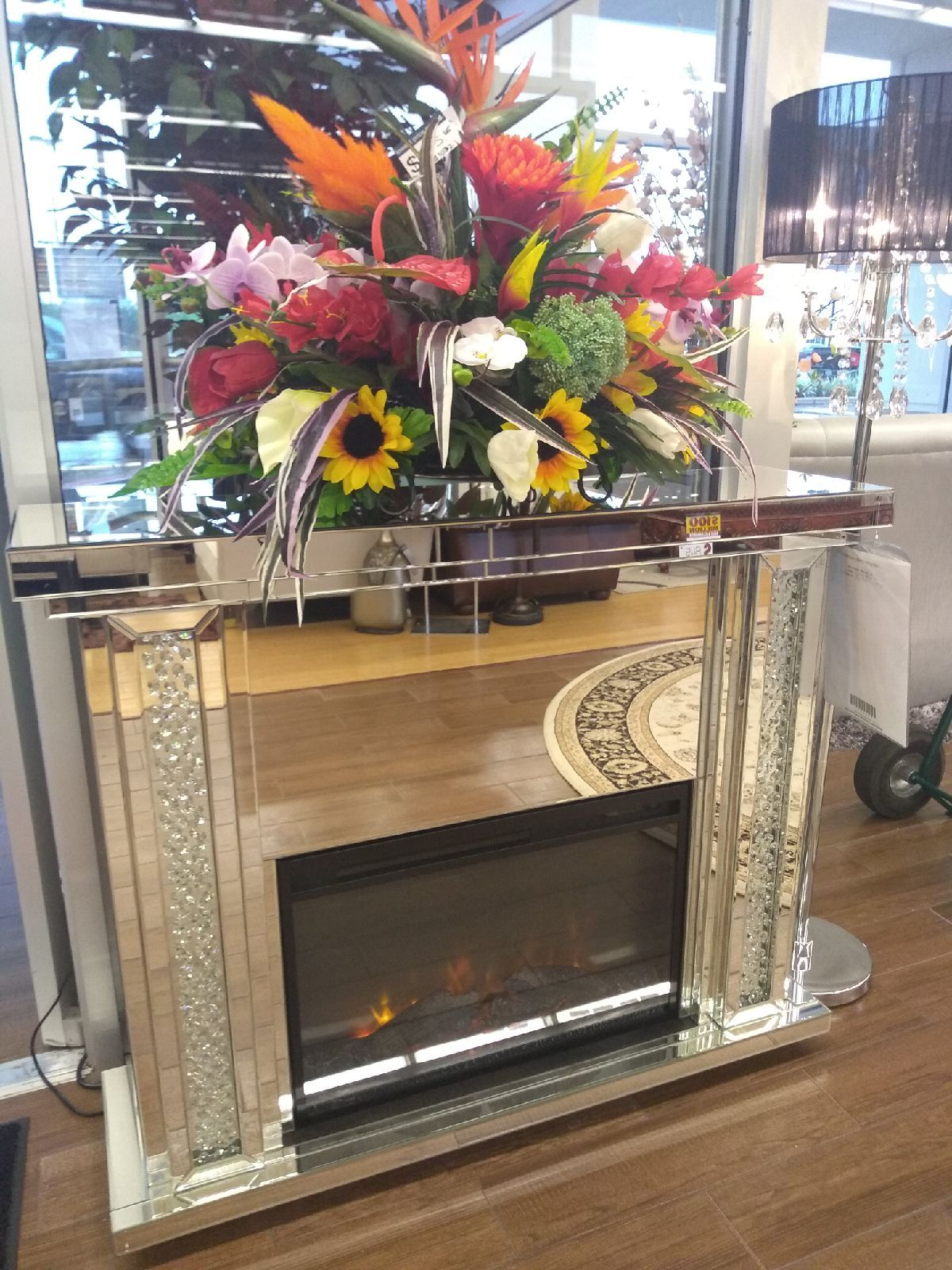 Bel Furniture Willowbrook : furniture, willowbrook, Share:, CRYSTAL, MIRROR, FIREPLACE, Fireplace, Mirror,, Fireplace,, Accessories