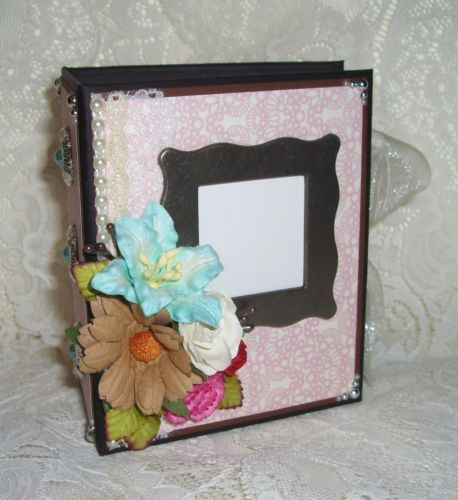 TPHH-Premade-Mini-Chipboard-Album-ANY-OCCASION-with-Prima-Flowers-D4