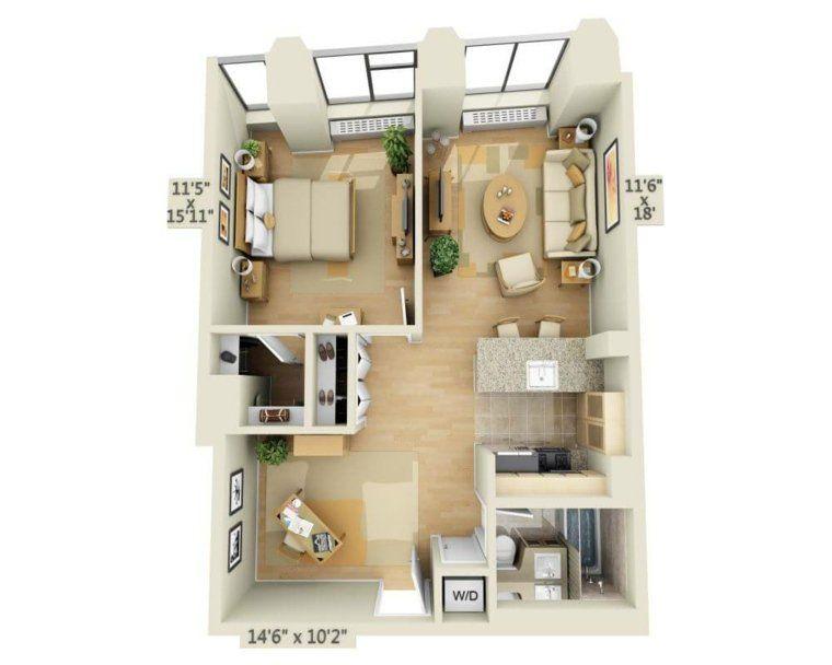 Le plan maison d un appartement une pièce idées
