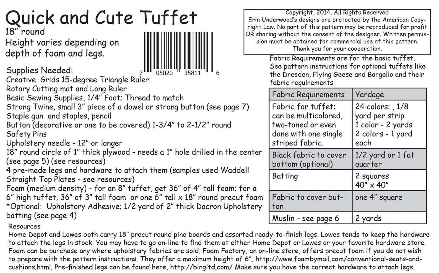 cfe0d0d844 18in round - Height varies. Fast and fun tuffets are truly quick and cute!  They come together in one day with the Creative Grids 15-Degree Triangle  Ruler!