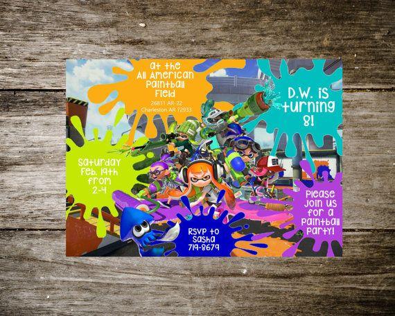 splatoon birthday invitation by whimsyprintsonetsy on etsy kiddy