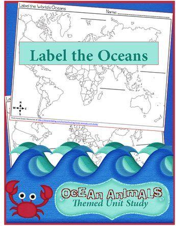 Free Label The Oceans Printables Ocean Lesson Pinterest - 4 oceans names