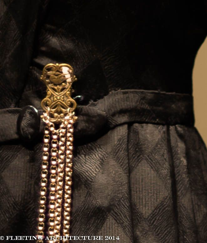 Another closeup of Mrs. Hughes, the head housekeeper's dress on Downton Abbey