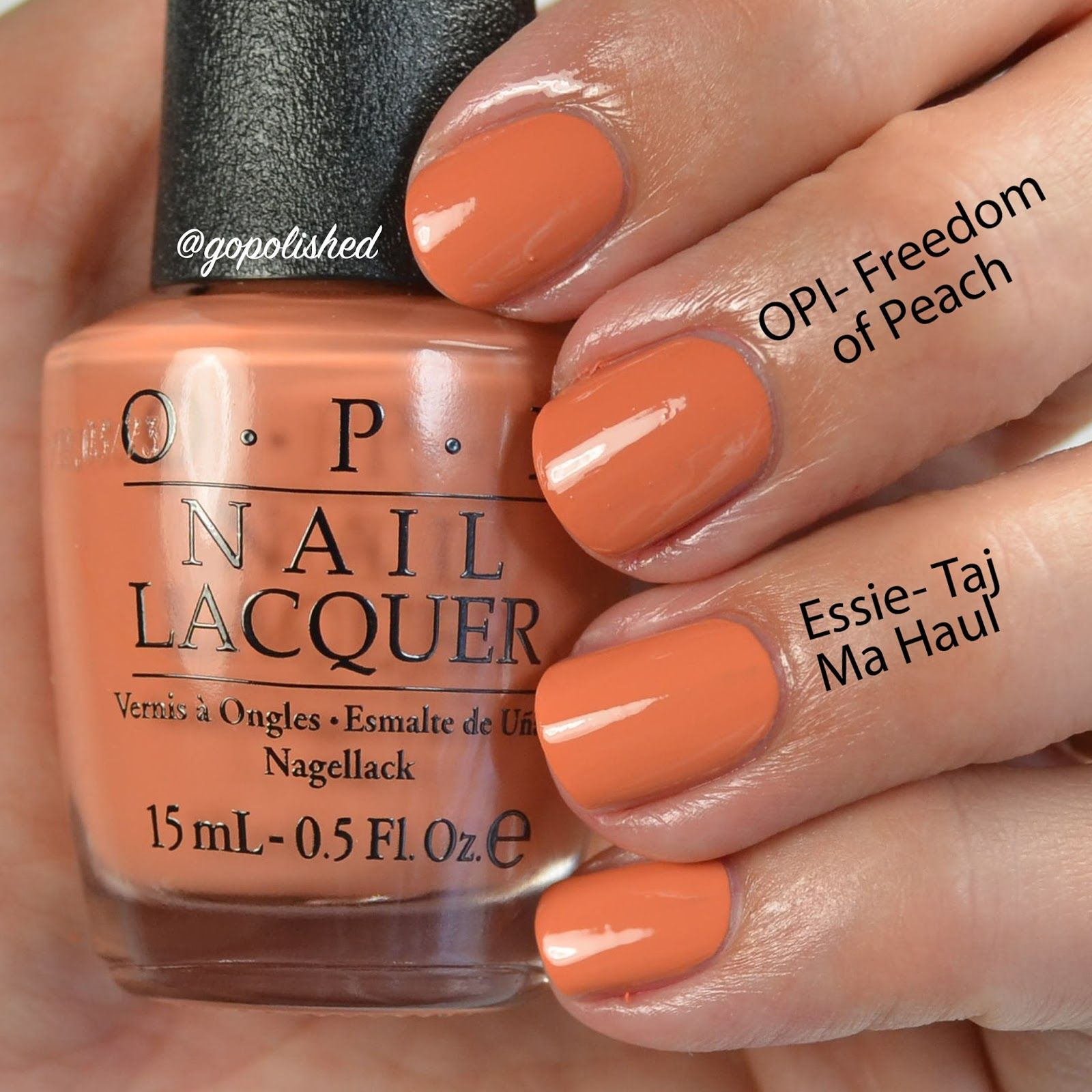 Image Result For Opi Freedom Of Peach Swatch Peach Nails Peach Nail Polish Nail Polish