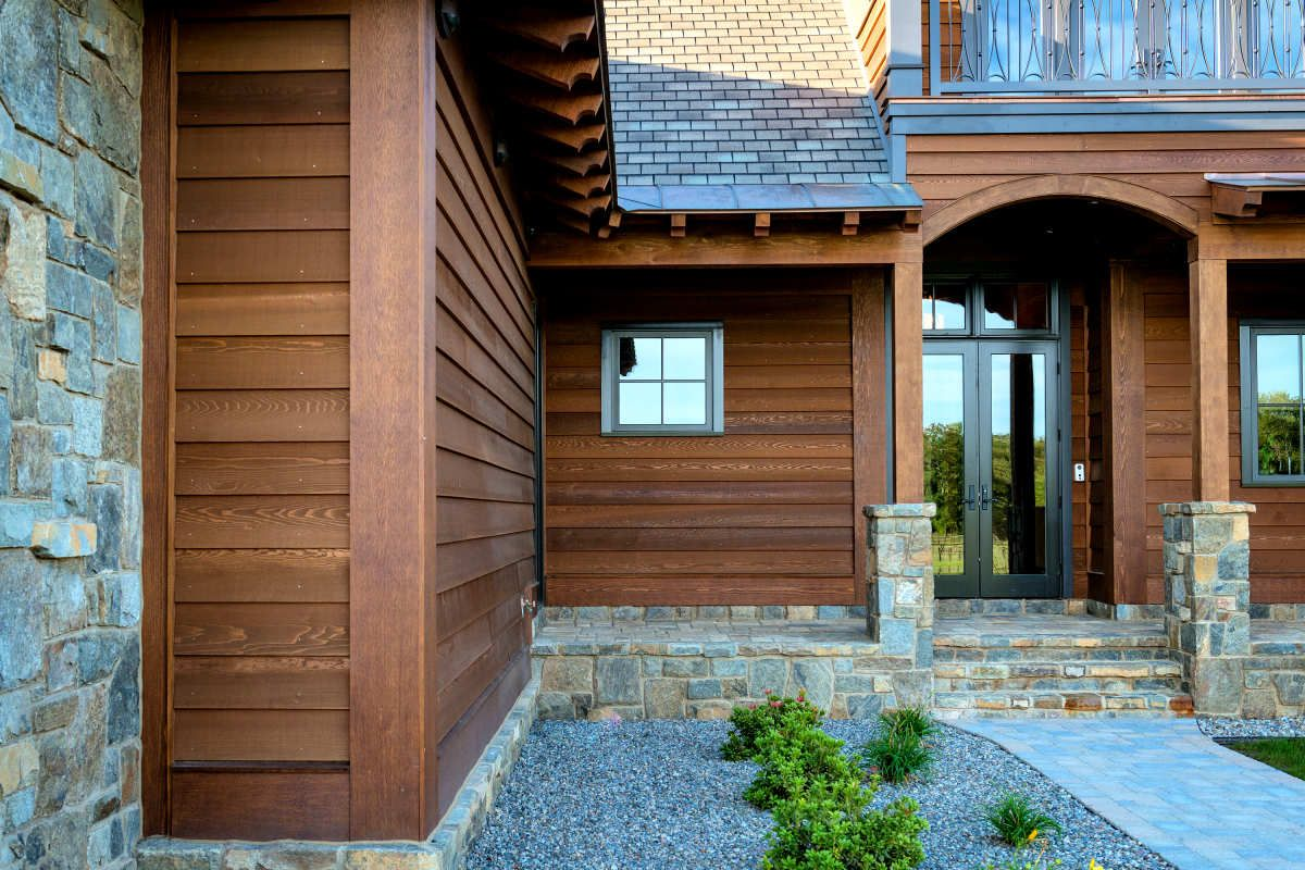 1x10 Bevel Siding No Rabbet Profile Clear Cedar 3 Coat Factory Finish Home In New York Siding Prices Red Roof House Clapboard Siding
